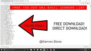 Free 100 000 Usa Based Email Address List New 2017 Youtube