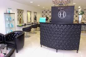 Blanc Noir Hairdressing in Costa Mesa :: A custom RoomService Hollywood  reception desk   Furnished by ModShop   Pinterest   Salons, Salon ideas and  White ...