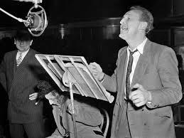 le fansiste bourvil chante le 12 mars 1948 au théâtre des chs elysées à paris