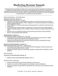 Marketing Resume Classy Marketing Resume Sample Writing Tips Resume Companion