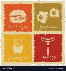 Vintage Food Labels Set Of Vintage Food Labels Royalty Free Vector Image