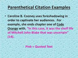 Ppt Parenthetical Citations Powerpoint Presentation Id2978037