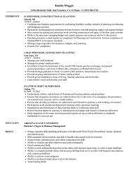Supervisor Planning Resume Samples Velvet Jobs