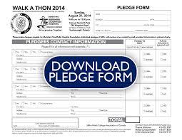 Walkathon Pledge Sheet Laste Foreversammi Org