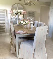 beautiful dining room chair slipcovers shabby chic