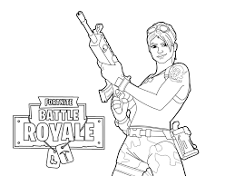 Commando Holding Rifle Scar Coloring Page Free Printable Coloring