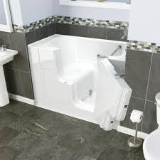 safety tubs 52 w x 30 d white soaking walk in bathtub right hand drain at menards