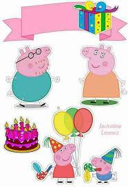 Peppa Pig Birthday Free Printable Cake Toppers Oh My Fiesta In