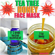 tea tree oil face mask with honey