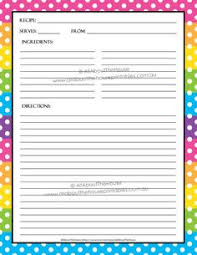 Recipe Form Templates 99 Best Recipe Card Templates Images Printable Recipe Cards