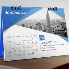 editable desk calendar