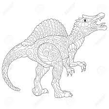 Dinosaurio Estilizado Del Spinosaurus Del Período Cretáceo Medio