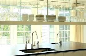 glass shelves for kitchen cabinets large size of accessories window between floating faucets moen amazing shelf