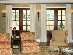 Windows Treatment For Living Room French Door Window Treatments Interior Treatments By Camille