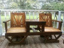 homemade patio furniture wood