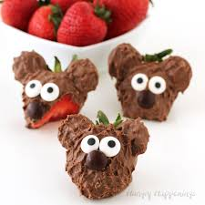 chocolate covered strawberries. Simple Covered Chocolate Dipped Strawberry Bears Inside Covered Strawberries