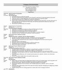 Branch Manager Resume Example Fresh Photograph Or Michaelwillow Com