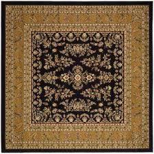 lyndhurst black tan 8 ft x 8 ft square area rug