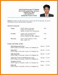 Sample Resume For Ojt Of Hrm Students - Frizzigame within Sample Resume For  Ojt Students