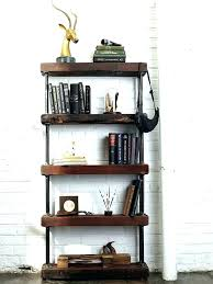 industrial style shelving. Industrial Style Bookcase View In Gallery Rustic Bookshelf Wall Shelving Looking She .