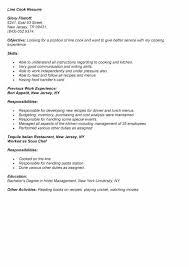 Line Cook Job Description For Resume Luxury Line Cook Job