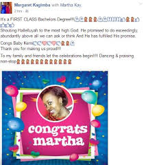 """First Class Degree Mesmerizing CONGS """"Range Rover"""" Girl Gets First Class Degree From UCU Campus Bee"""