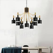 12 light chandelier modern contemporary light steel chandelier with steel shade for living room dinning room