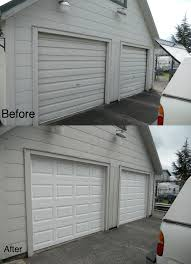 before after garage doorhung right doors in olympia wa aberdeen olympia garage doors