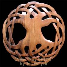 celtic tree of life wood carving
