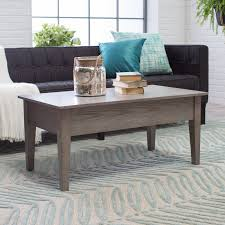 turner lift top coffee table gray hayneedle within grey wood coffee tables image