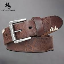 <b>JIFANPAUL</b> New Men's Belt Alloy Pin Buckle Leather Belt Head ...