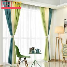 Image Guest Room Aliexpress Us 4479 12 Offhome Office Blackout Curtains For Flat Window Cotton Linen Solid Colors Modern Decorative Cloth Curtain Customized Size Drapein
