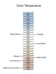 Light Bulbs Etc Inc Color Temperature Chart In 2019