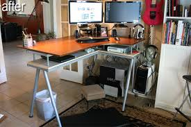 Ikea Standing Desk Galant Standup And Rationell To Decorating