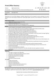 Free Hotel Front Office Manager Resume Templates Resume Template For