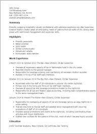 Resume For Restaurant Supervisor Resume Restaurant Supervisor
