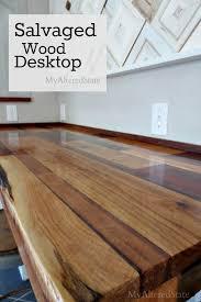 desk tops furniture. delighful tops diy salvaged wood desktop on desk tops furniture