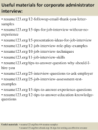 Corporate Administrator Sample Resume