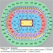 Staples Center Seating Chart Concert Staples Center Seating Map Bampoud Info