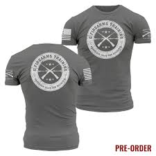 Mens Grunt Style T Shirt Grey White