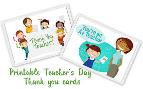 Free Online Thank You Card Free Online Printable Thank You Cards For Teachers Download Them