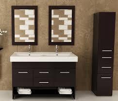 47 inch double bathroom vanity integrated sink top