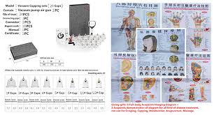 Ht Cupping Chinese Cup Cupping Set Chinese Ancient Acupuncture Therapy Method For Family