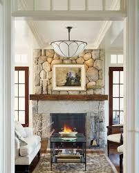 beach house other side is screened porch w fireplace love the stone fireplace w simple mantle and stone surround french doors w transoms