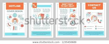 Hotline Brochure Template Layout Emergency Service Stock