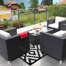 black and white checd outdoor rug