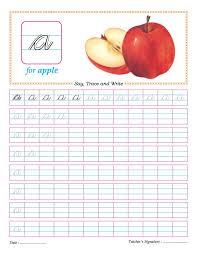 Cursive small letter a practice worksheet | Download Free Cursive ...