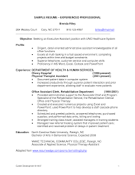 Professional Resume Experienced Employment Education Examples Skills