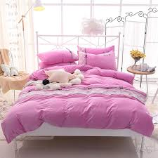 pink purple fleece warm bedclothes girls lace queen king size bedding sets duvet cover bed sheet set pillowcase lace queen king size bedding set sheet set