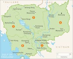 map of cambodia  cambodia regions  rough guides